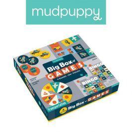 Zestaw gier Mudpuppy - środki transportu: Memo, Bingo, Domino i Koło fortuny