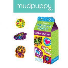 Drewniane magnesy Mudpuppy - Keith Haring (35 elem.)