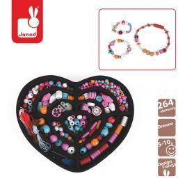 Zestaw do tworzenia biżuterii - 250 koralików Janod - Dziewczynka