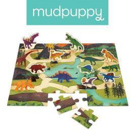 Puzzle z figurkami Mudpuppy - dinozaury (36 elem.)