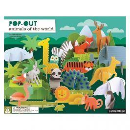 Puzzle Przestrzenne Petit Collage Deluxe - zwierzęta świata (4+)