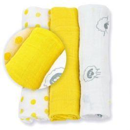 Zestaw pieluszek muślinowych Lulujo (70x70) żółty