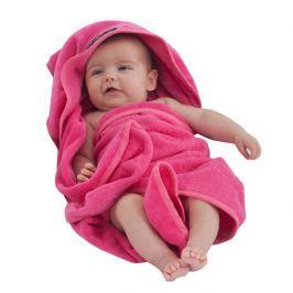 Ręcznik kąpielowy z kapturkiem amarantowy