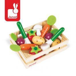 Zestaw drewnianych warzyw w skrzyneczce Janod