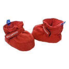 Mięciutkie kapcie - buciki 0-6 miesięcy czerwone