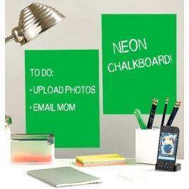 Naklejki naścienne Wallies - tablica kredowa Zielony neon