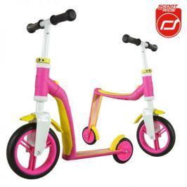 Highwaybaby hulajnoga i rowerek biegowy 2w1 dla dzieci 1+ - różowy