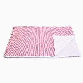 Narzuta średnia - paski - różowe