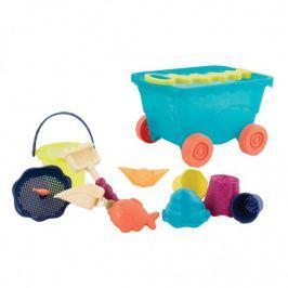 Wózek z zabawkami do piasku - Wavy-Wagon - niebieski