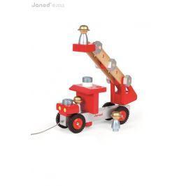 Duży wóz strażacki do składania Janod (lekko uszkodzone opakowanie)