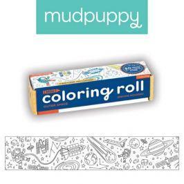 Mała kolorowanka na rolce + 4 kredki Mudpuppy - kosmos