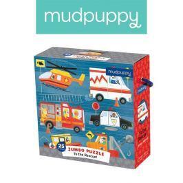 Puzzle Jumbo Mudpuppy - na ratunek (25 dużych elem.)