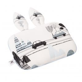 Bambusowa poduszka z uszami dla niemowląt Samiboo (25x35) -  Bambino+lamówka niebieska