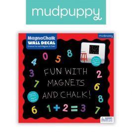 Magnetyczna naklejka kredowa z magnesami Mudpuppy - cyferki