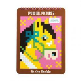 Kolorowanka z pixelami Mudpuppy - konie