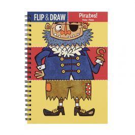 Zeszyt kreatywny Mudpuppy - rysuj, koloruj, miksuj - piraci