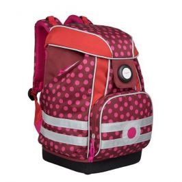 Plecak szkolny XL z wodoodpornym dnem Lassig - dottie red