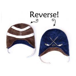 Dwustronna czapka zimowa FlapJack (6m-3l) - piłka / hokej