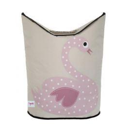 Kosz na pranie - łabędź