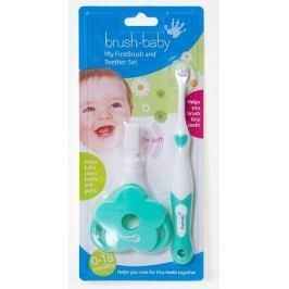 Zestaw na ząbkowanie Brush-Baby (0-18m.) - FirstBrush i TeetherSet