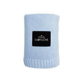 Bambusowy kocyk tkany Lullalove - błękitny