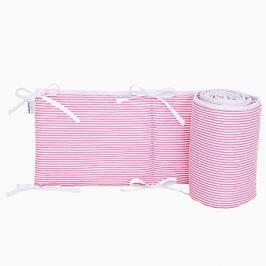 Ochraniacz do łóżeczka 60x120 - paski - różowe