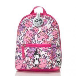 Plecak Zip&Zoe Mini ze smyczą - Robot Pink (1-3lata)
