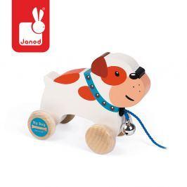 Piesek drewniany do ciągnięcia Janod - Bulldog