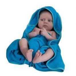 Ręcznik kąpielowy z kapturkiem turkusowy