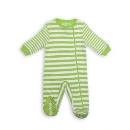 Pajacyk dla dziecka - zielone paseczki (6-12 m)