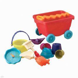 Wózek z zabawkami do piasku - Wavy-Wagon - czerwony