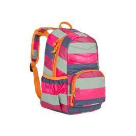 Plecak szkolny pikowany Lassig - striped magenta
