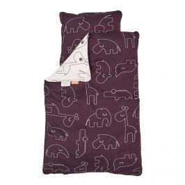 Pościel niemowlęca Done by Deer (100x70 + 45x40) - różowa