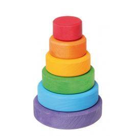 Mała wieża Grimm's - kolory tęczowe - 6 elementów