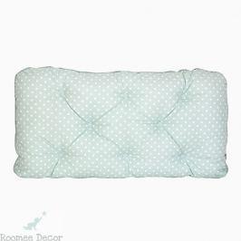 Poduszka-wezgłowie duża - gwiazdki - miętowo-białe
