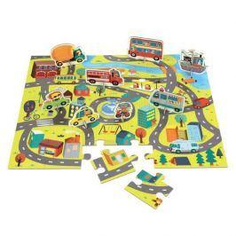 Puzzle z figurkami Mudpuppy - w mieście (36 elem.)