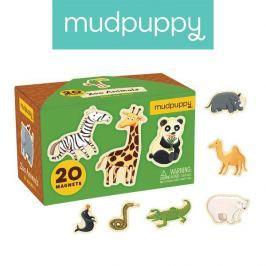 Tekturowe magnesy Mudpuppy - zwierzęta (20 elem.)