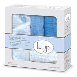 Zestaw prezentowy Lulujo (otulacz, pieluszki, myjka) żaglówki