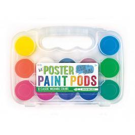 Farby Plakatowe, zmywalne, Ooly -12 kolorów + pędzelek