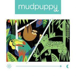 Puzzle świecące w ciemności Mudpuppy - las tropikalny (100 elem.)