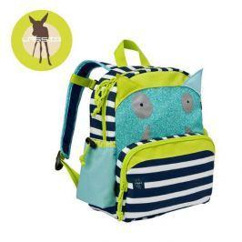 Plecak z kieszenią termiczną i piórnikiem Lassig Little Monster - zielony