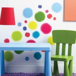 Naklejki naścienne Wallies - kolorowe kropki 3D