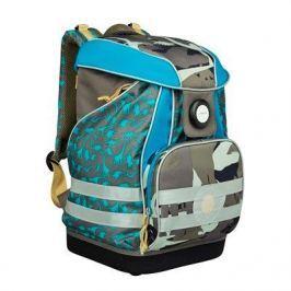 Plecak szkolny XL z wodoodpornym dnem Lassig - dino slate
