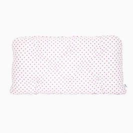 Poduszka-wezgłowie duża - gwiazdki - biało-różowe
