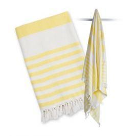 Ręcznik turecki wielofunkcyjny (150x100) - żółty