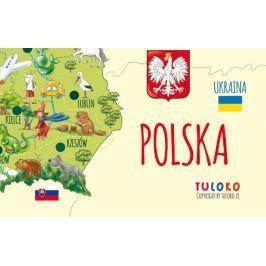 Mapa Polski - naklejka naścienna