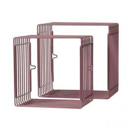 Zestaw metalowych półek (mniejsze) - ciemno różowe