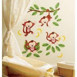 Naklejki naścienne Wallies - małpki