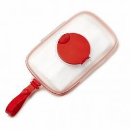 Podręczny pojemnik na mokre chusteczki - czerwony
