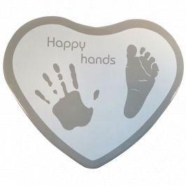 Pamiątkowy odcisk Happy Hand - heart silver